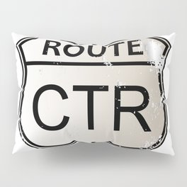 CTR Highway Sign Pillow Sham