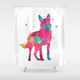 Colorful German Shepherd Shower Curtain
