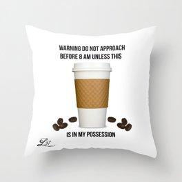 Coffee Alert Throw Pillow