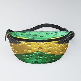 Flag of Jamaica - Raindrops Fanny Pack