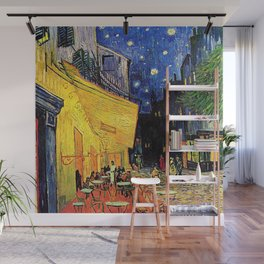 The cafe terrace on the place du forum, Arles, at night, by Vincent van gogh.  Wall Mural