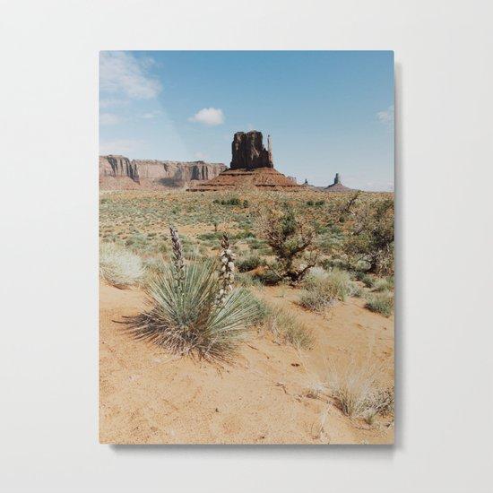 Blooming Southwest Desert Yucca Metal Print
