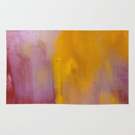 Yellow and Purple Abstract Rug
