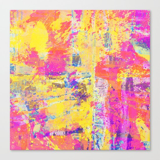 Always Look On The Bright Side - Abstract, textured painting Canvas Print
