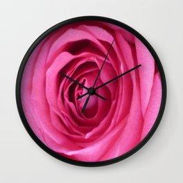 Bright Pink Rose Wall Clock