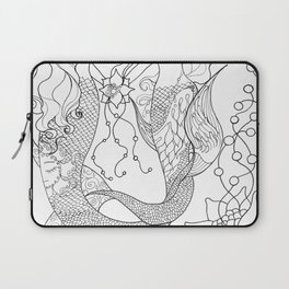 Two mermaids, many pearls Laptop Sleeve