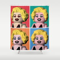 marilyn Shower Curtains featuring Marilyn by powerpig