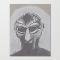 mf doom Canvas Prints featuring MF Doom by Ous Art