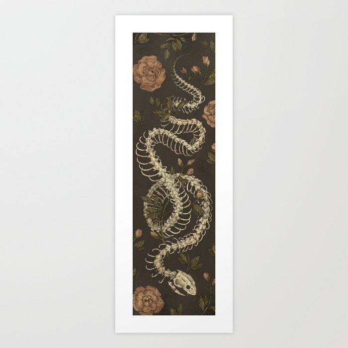 Snake Skeleton Kunstdrucke