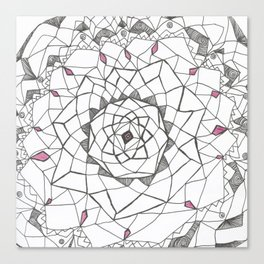 Mandalic Purple Canvas Print
