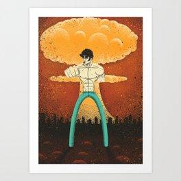 Kenshiro doesn't look at explosions Art Print