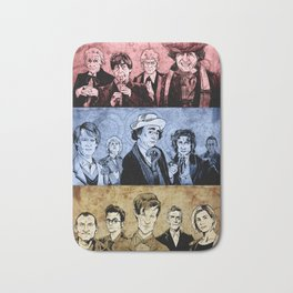 Doctor Who - Three Colours Who Bath Mat