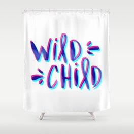 Wild Child – Magenta & Cyan Palette Shower Curtain