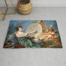 Allegory of Painting - Francois Boucher Rug