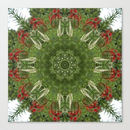 Cardinal flower and Culver's root kaleidoscope Canvas Print