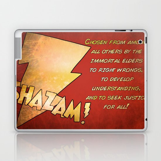 Hello my Name is Shazam! Laptop & iPad Skin
