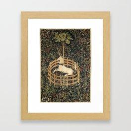 Unicorn in Captivity Framed Art Print
