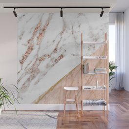 Marble rose gold blended Wall Mural