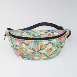 Gilded Moroccan Mosaic Tiles Fanny Pack