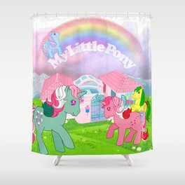 g1 my little pony Shower Curtain