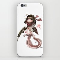 bouletcorp iPhone & iPod Skins featuring Axolotl Barbare by Bouletcorp