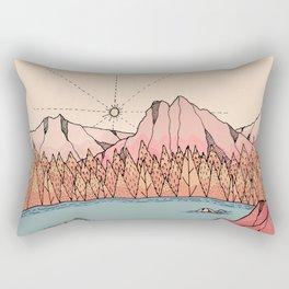 The late autumn lake Rectangular Pillow