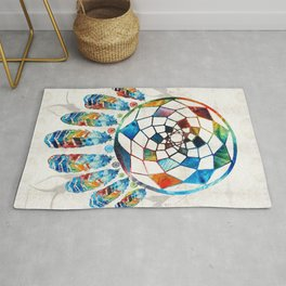 Native American Colorful Dream Catcher by Sharon Cummings Rug