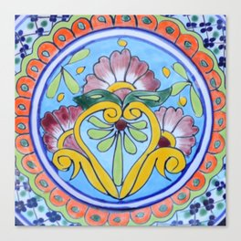 Talavera Five Canvas Print