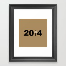 2014-NY-Gold Framed Art Print