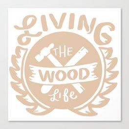 Lumbering Carpenter Woodworking Canvas Print