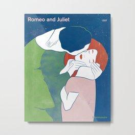 Romeo and Juliet, William Shakespeare Metal Print