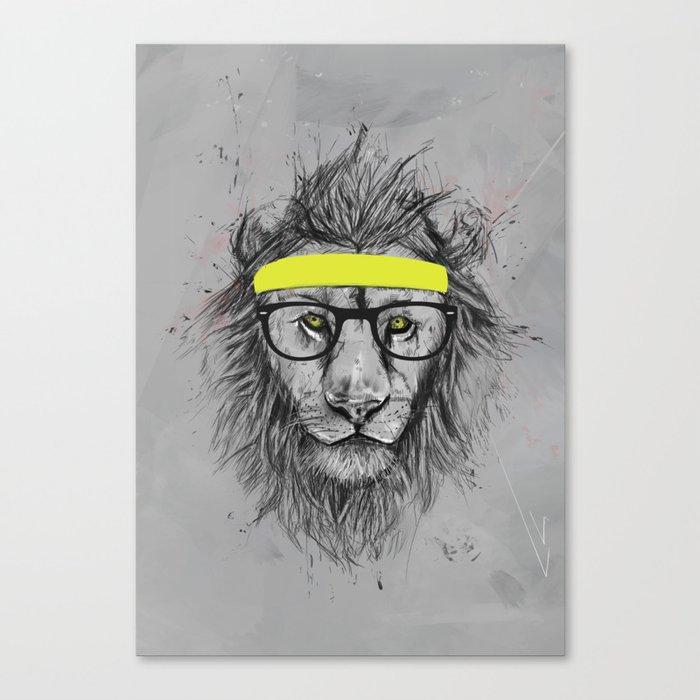 hipster lion Canvas Print