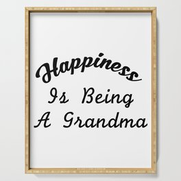 Great Grandma For Women Happiness Is Being A Grandma Serving Tray