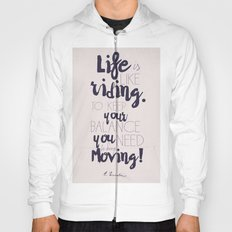 A. Einstein quote on life for motivation inspiration and strenght, typography, illustration, decor Hoody