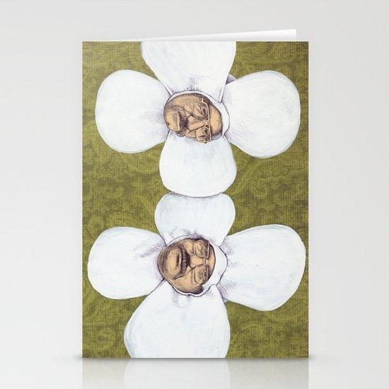 Flower Men Stationery Cards