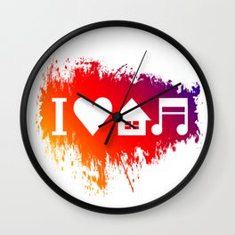 House Music Wall Clock