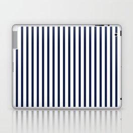 Navy Blue Vertical Stripes Laptop & iPad Skin