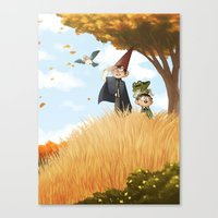 over the garden wall Canvas Prints featuring Over the Garden Wall by Kiana