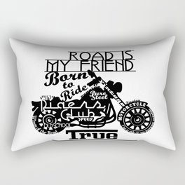 True Freedom - Road is my friend Motorbike Rectangular Pillow