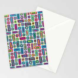 Abstract Retro Groove Stationery Cards