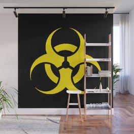 Hazard biologic warning signal design Wall Mural
