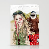 rock n roll Stationery Cards featuring ROCK N ROLL by ●•VINCE•●