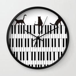 Piano Cat Wall Clock