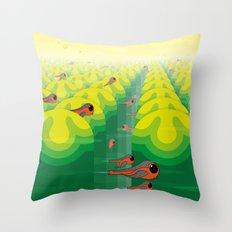 SF SolarBugs Throw Pillow
