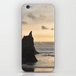Arcadia Beach Sunset Lion Rock Oregon Coast Pacific Ocean iPhone Skin