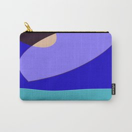 Minimal With Blue Carry-All Pouch
