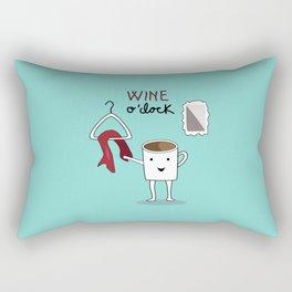 Wine O'clock Rectangular Pillow