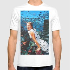 Kate Moss 2X-LARGE White Mens Fitted Tee