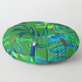 Cactus Abstract With Background Floor Pillow