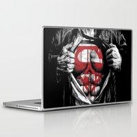 daenerys Laptop & iPad Skins featuring Superman Blood Logo by Veylow